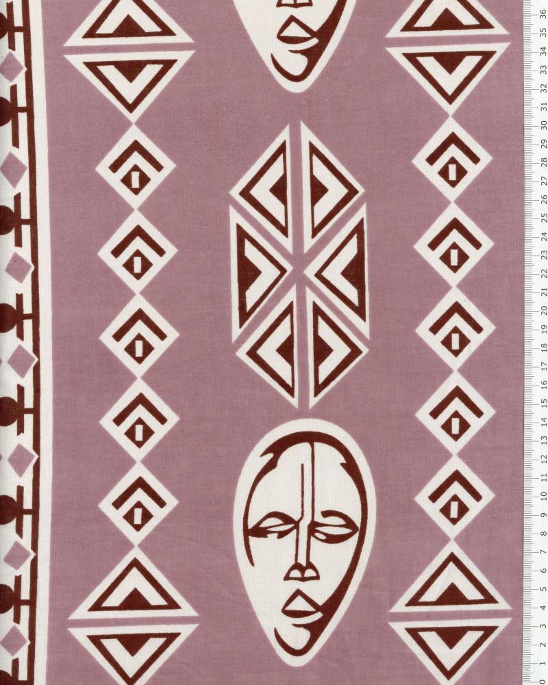 Véritable WAX - Tissu african Kampala Rose - Tissushop