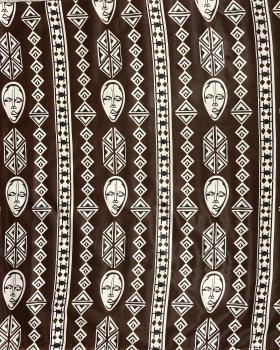 Véritable WAX - Tissu african Kampala Marron - Tissushop