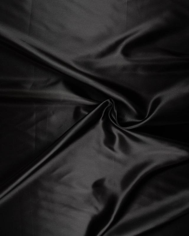 Satin Uni Noir - Tissushop
