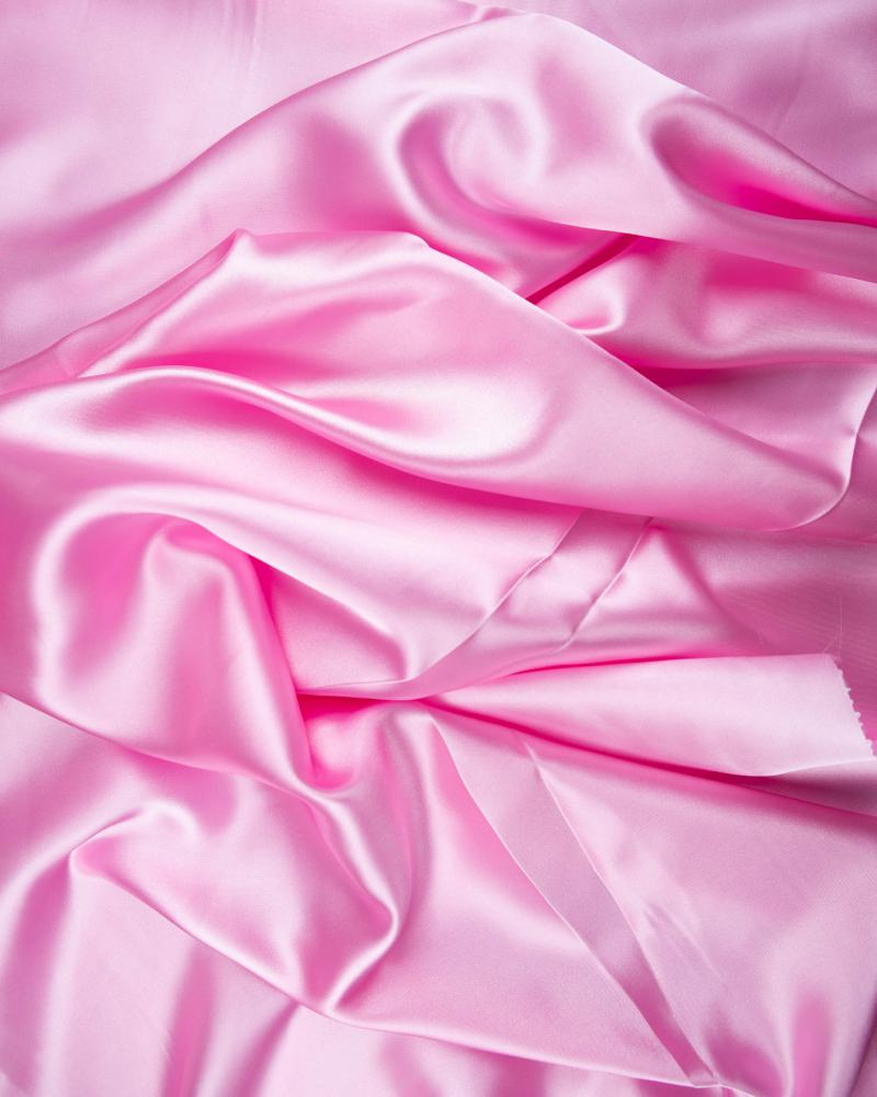 Satin Uni Rose Bonbon - Tissushop