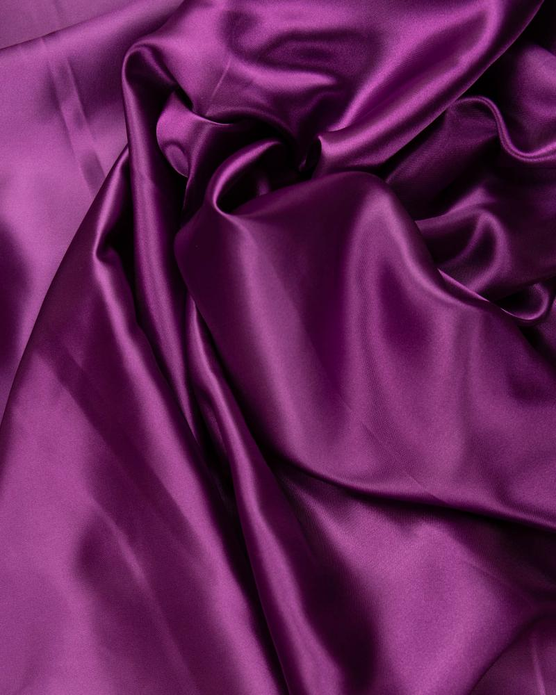 Plain Satin Cassis - Tissushop