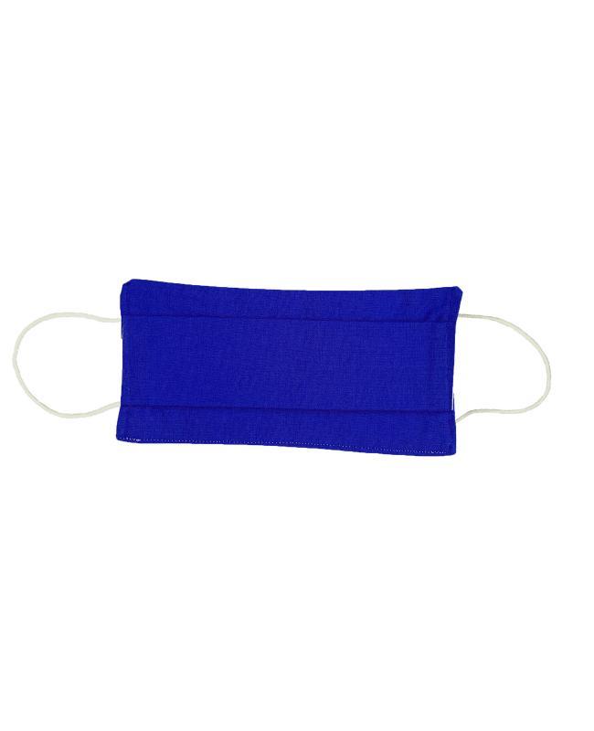 Kit pour fabrication de 21 masques barrière - coton uni Bleu Roi - Tissushop