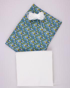 Kit for DIY 21 barrier masks - printed cotton Diana Blue - Tissushop