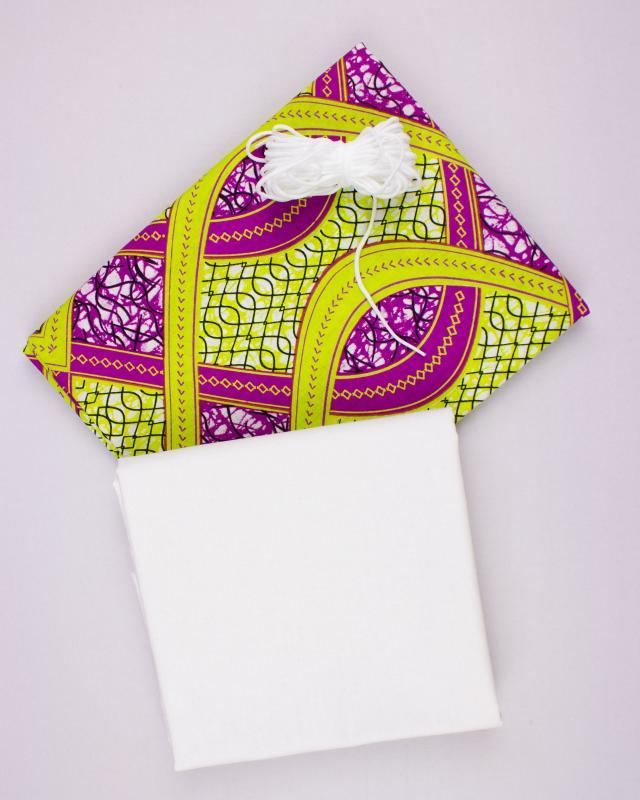 Kit for DIY 24 barrier masks - Wax Mogadiscio - Tissushop