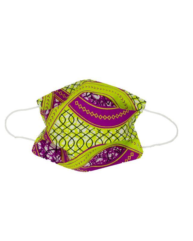 Kit pour fabrication de 24 masques barrière - Wax Mogadiscio - Tissushop