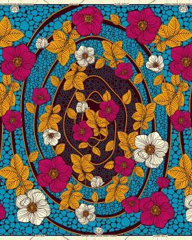 Super Wax - African Kinshasa Fabric - Tissushop