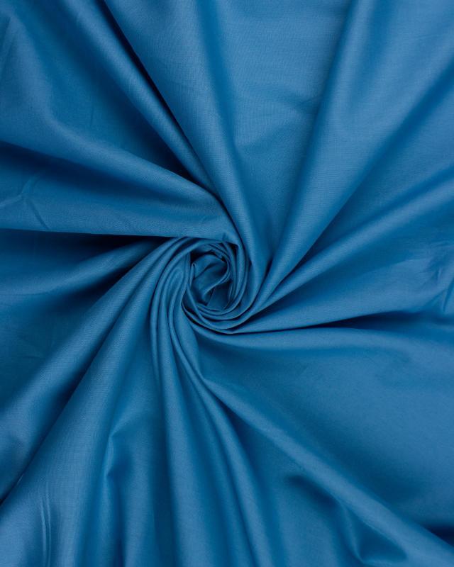popeline de coton uni Bleu Canard - Tissushop