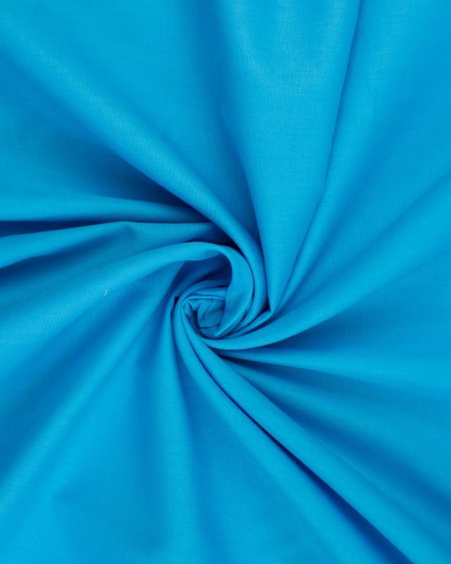 Popeline de coton uni Bleu Turquoise - Tissushop