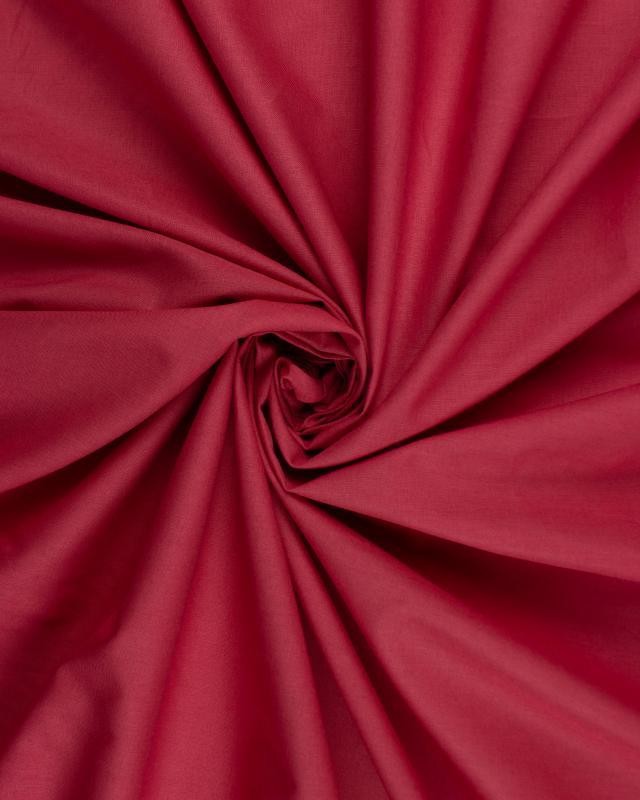 Poplin dyed cotton Strawberry - Tissushop