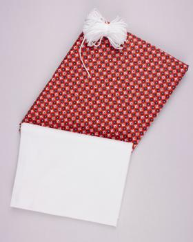 Kit for manufacturing 24 3 layers protection face masks - Printed cotton Polar Red - Tissushop