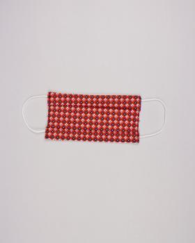 Kit pour fabrication de 24 masques de protection 3 couches - coton imprimé Polar Rouge - Tissushop