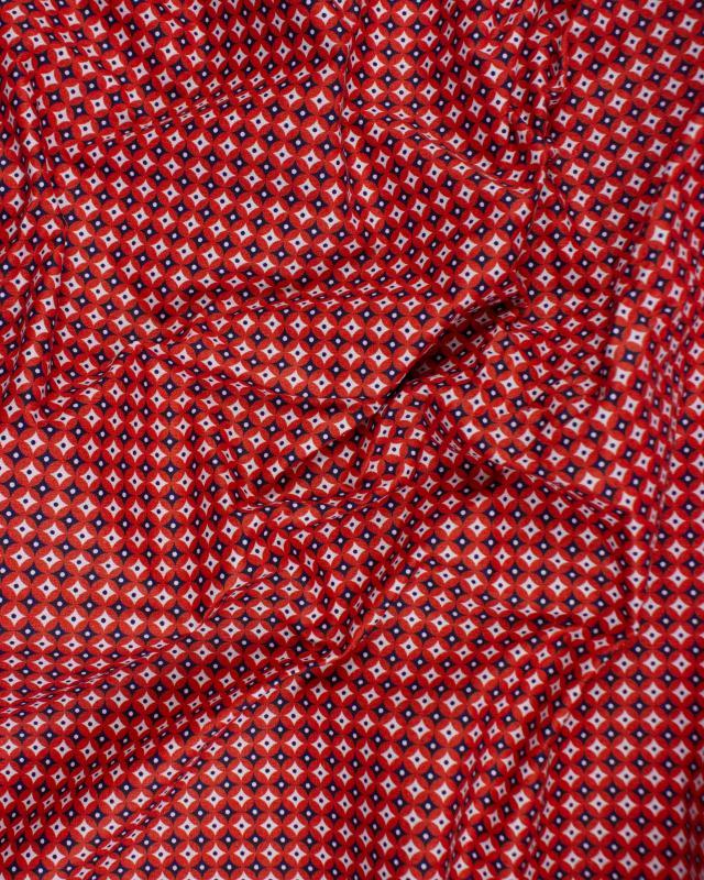 Popeline de coton Polar Rouge - Tissushop