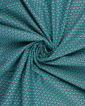Popeline de coton Alvéole Vert - Tissushop