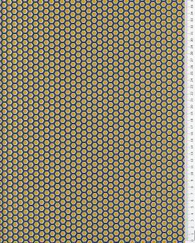 Popeline de coton Alvéole Moutarde - Tissushop