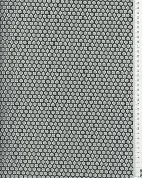 Cotton poplin Alveole Grey - Tissushop