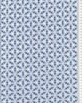 Popeline de coton Tripoli Bleu - Tissushop