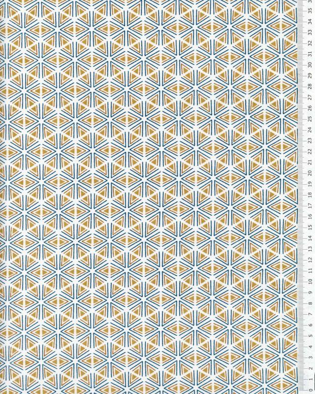 Popeline de coton Tripoli Moutarde - Tissushop