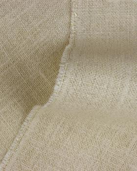 Toile de jute lurex or - 290 gr/m2 - 120 cm Blanc - Tissushop