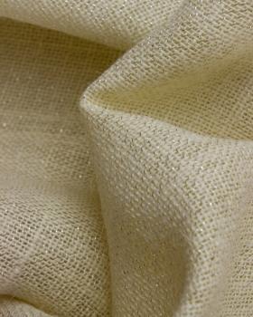 Gold lurex burlap - 290 gr / m2 - 120 cm White - Tissushop