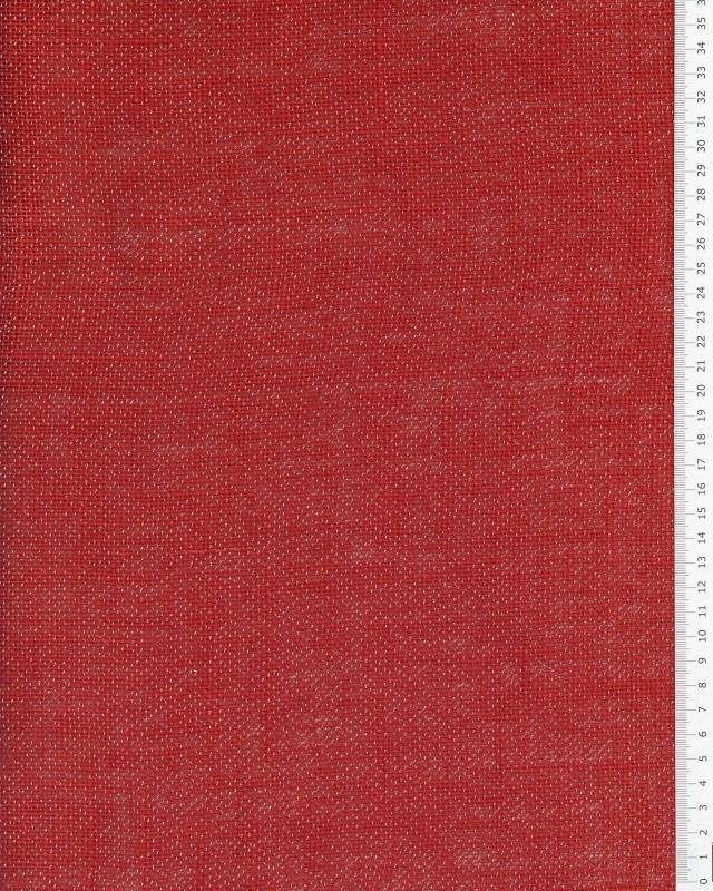 Gold lurex burlap - 290 gr / m2 - 120 cm Red - Tissushop