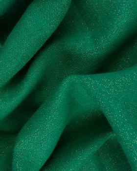 Gold lurex burlap - 290 gr / m2 - 120 cm Dark Green - Tissushop