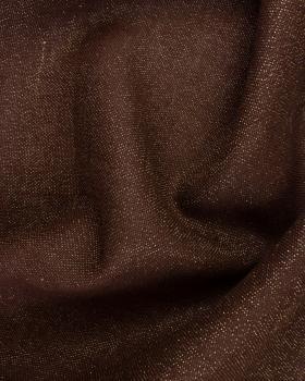 Gold lurex burlap - 290 gr / m2 - 120 cm Brown - Tissushop