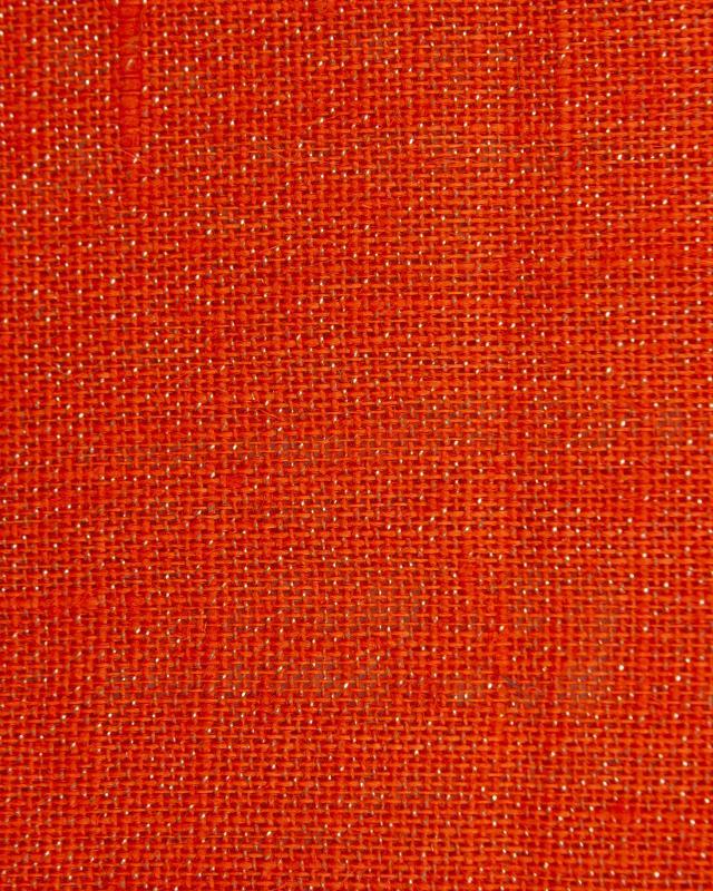 Gold lurex burlap - 290 gr / m2 - 120 cm Orange - Tissushop