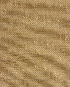 Toile de jute lurex argent - 290 gr/m² - 130 cm - Naturel - Tissushop
