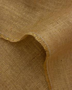Toile de jute lurex or - 290 gr/m2 - 130 cm Naturel - Tissushop