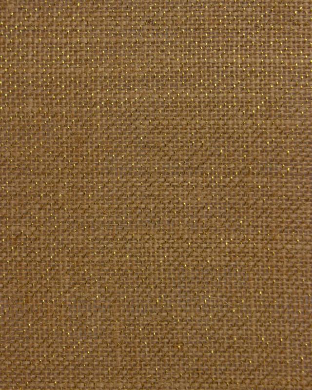Gold lurex burlap - 290 gr / m2 - 130 cm Natural - Tissushop