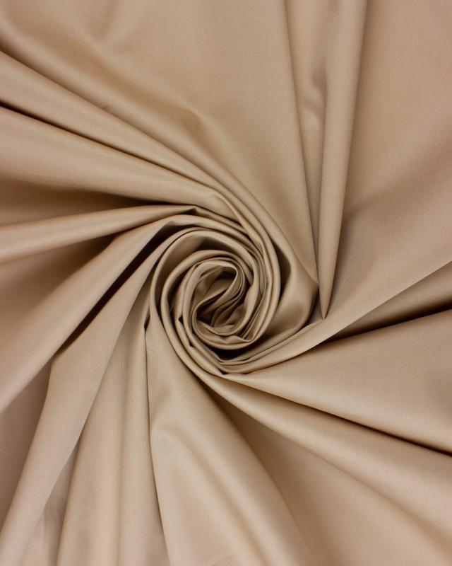 Poplin 120 YARN - 100% Plain Cotton Beige - Tissushop