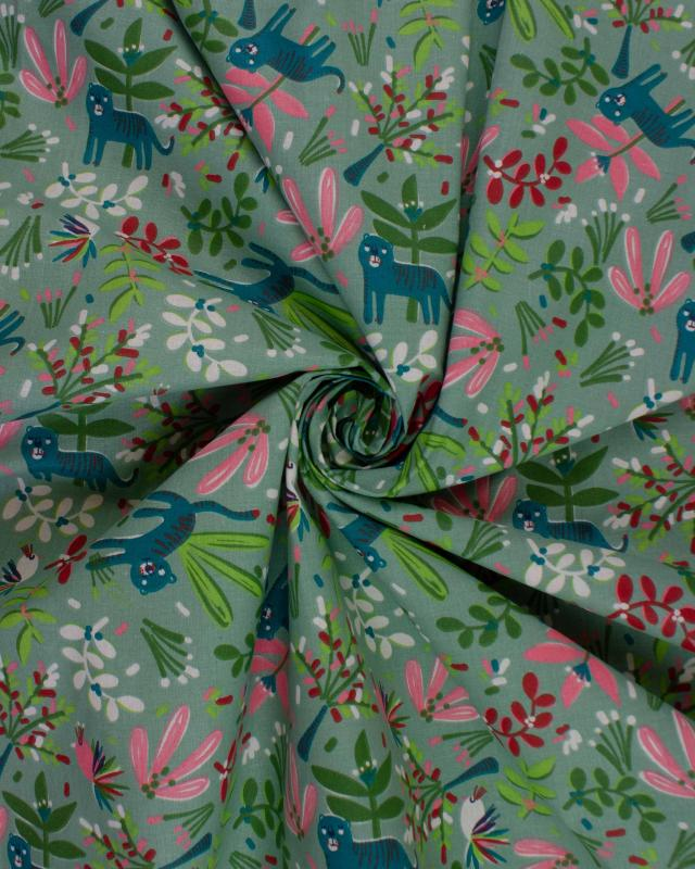 Cotton poplin - Selva Green - Tissushop