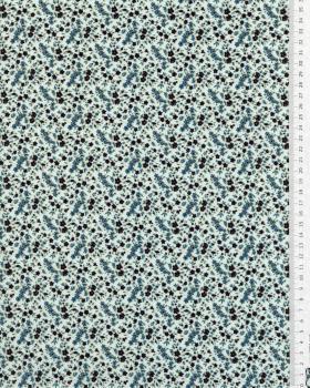 Cotton poplin - Cassandre Blue - Tissushop