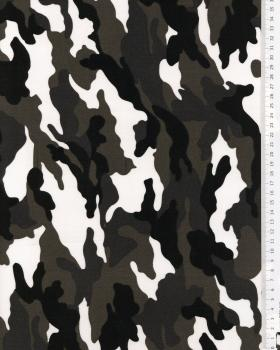 Camouflage Printed White - Tissushop