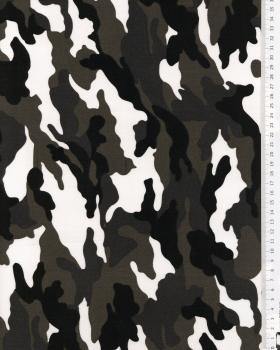 Imprimé Camouflage Blanc - Tissushop