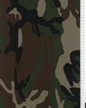 Imprimé Camouflage Marron - Tissushop