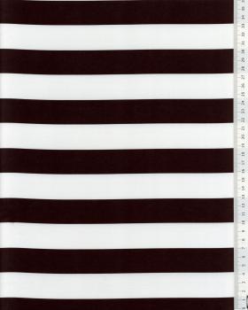 Satin Rayures noir et Blanc - Tissushop