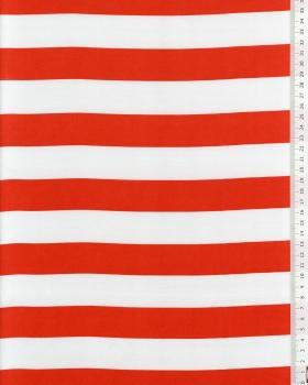 Satin Red Stripes and White - Tissushop