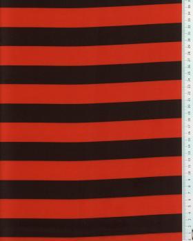 Satin Rayures Rouge et Noir - Tissushop