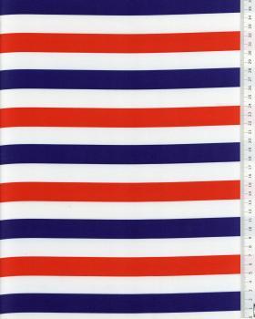 Satin Stripes Blue White Red - Tissushop