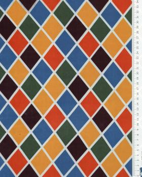 Harlequin satin with white edge Multicolor - Tissushop