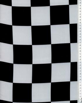 Satin Damier Noir et Blanc - Tissushop