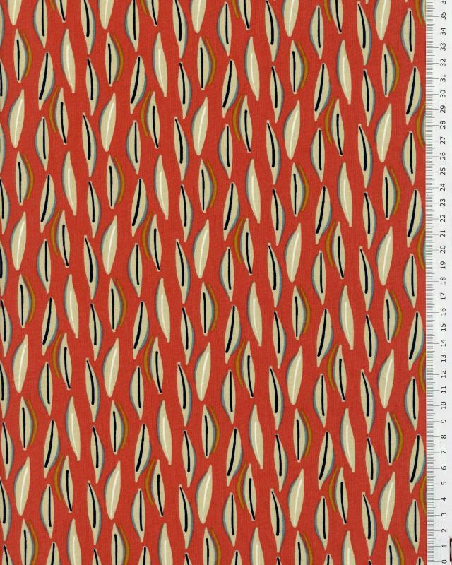 Coton Enduit COJOA Rouge - Tissushop