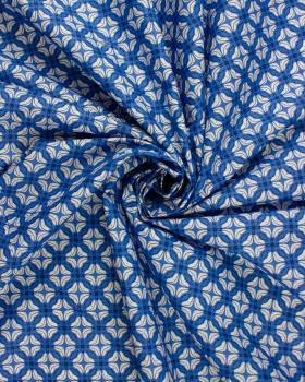 Popeline de coton - Mazcar Bleu - Tissushop