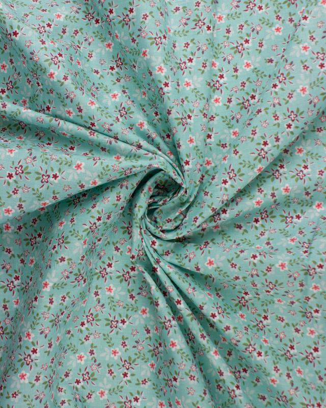 Popeline de coton - Félicie Bleu Nuage - Tissushop