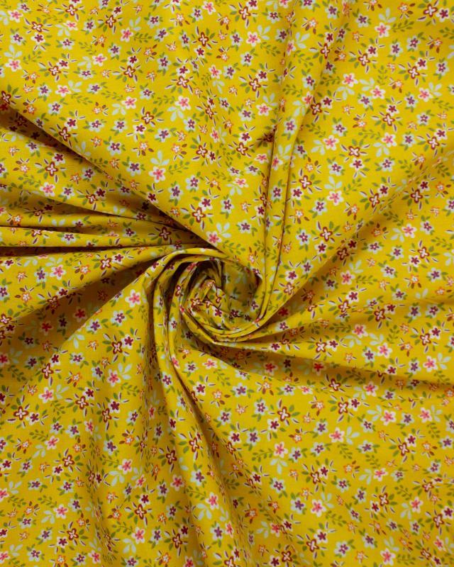 Popeline de coton - Félicie Moutarde - Tissushop