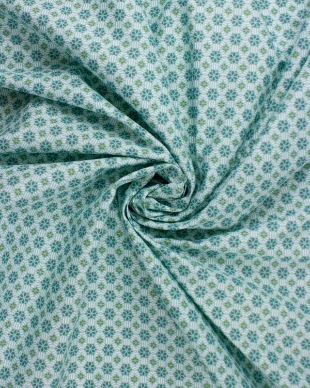 Popeline de coton - Vitrax Bleu Nuage - Tissushop