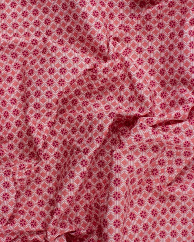 Popeline de coton - Vitrax Rose - Tissushop