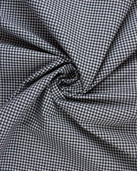 Poly / Cotton Gingham Navy Blue - Tissushop