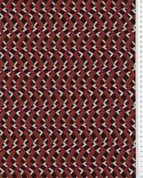 Crêpe lignes brisées Rouge - Tissushop